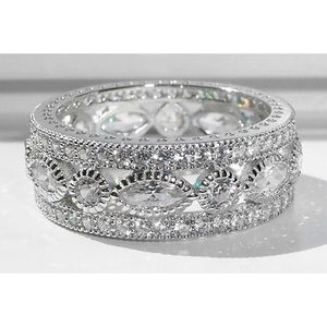 STERLING SILVER CZ Eternity Band Ring